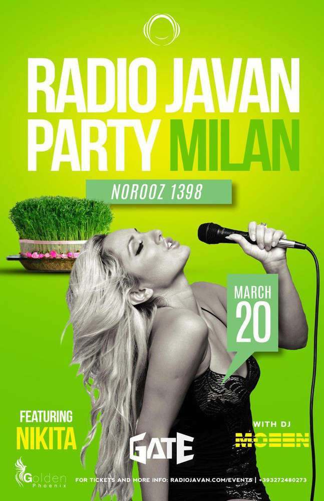 Radio Javan Norooz Party in Milan with Nikita