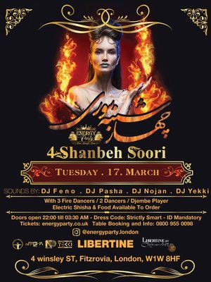4Shanbe Soori Party in London