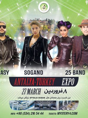 Sogand, Sasy and 25 Band in Antalya