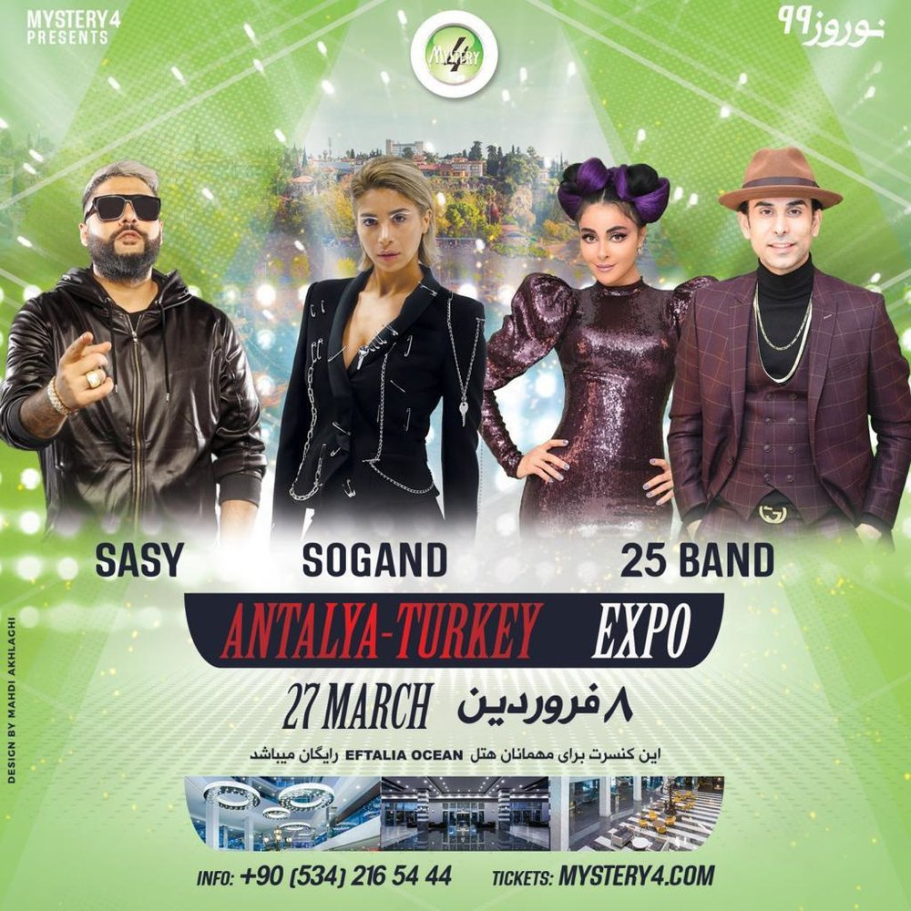 Sogand, Sasy and 25 Band in Antalya